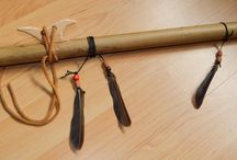 Fletownia / Tablica z fletami indiańskimi.