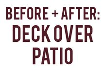 Deck over patio
