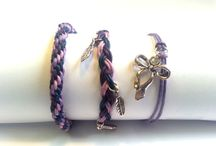Themed Bracelet Sets / I make sets of 3 complimenting cord bracelets, inspired by things such as season or simply colour. I am continuously getting new ideas and so will be adding plenty more!