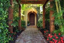 tropical front door