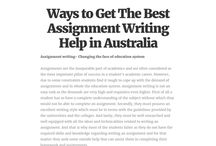 Assignment Help Australia / Looking for Assignment Help Australia for your coursework writing? Assignment Consultancy is best in providing writing assignment services.