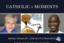 "Catholic Moments Radio / Catholic Moments is a weekly interactive program addressing Catholic faith, family life, and cultural topics featuring guests who share their expertise on various topics of relevance for any Catholic. Join Lisa on the radio and with the ""Catholic Moments"" community online at www.facebook.com/catholicmoments / by Lisa Hendey"