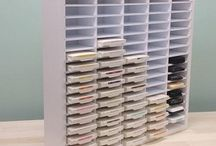 Ink Pad Storage / Craft organizers to hold all of your favorite ink pads and refills!