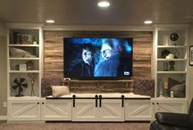 Basement entertainment area