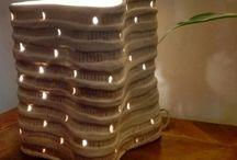 mi cerámica mi arcilla / cosas que hago en arcilla /cerámica: lámparas + macetas + objetos