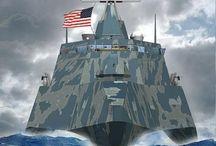 De zeven wereldzeeën / Marineschepen over de hele wereld