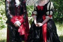 XVIII Szwecja suknie dworskie / Swedish court dress