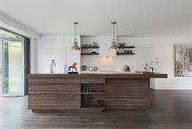 Timber inspiration for kitchens / Timber or timber looks are making a huge comeback in home renovations - here a few examples of a modern take on using timber.