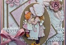Sarah Kay card making ideas / Sarah Kay die cut & traditional decoupage inspiration - product range available at www.foilplay.co.uk