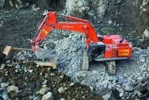 excavator machine work