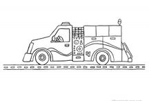 Fire Truck Coloring Pages / Free, printable coloring pages of unique and interesting fire trucks, engines, pumpers and tankers. / by Jill Turpin