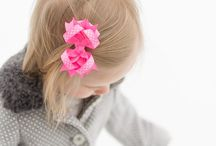 Child Hair Bows for Girls from The Princess Express / Adorable Hair Bow Clips for Girls featured at The Princess Express, an online specialty retail store for baby and child hair accessories.