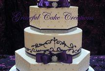 purple wedding cake / by Helenmarie Looker