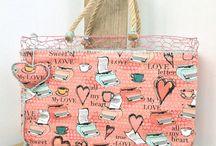 WireBag / borse in rete a maglia esagonale colorate e rivestite con bellissime stoffe selezionate. Idea regalo per lei