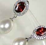 Wunderschöne Kombination aus Perlen und Rubin
