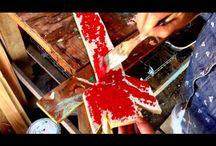 Salt wash paint for texture chippy look
