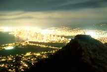 Honolulu City Lights / Iconic scenes from Oahu at night.