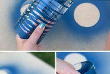 Garrafas e frascos de vidro
