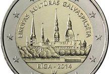 Monedas 2 euros Letonia