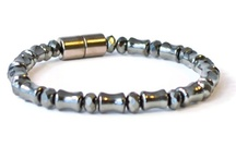 Magnetic Therapy Bracelets / Handcrafted bracelets designed with magnetic hematite beads. Jewelry that looks good and helps to alleviate pain all at the same time.