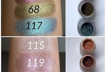 inglot swatches/eyeshadows
