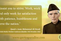 Quaid e Azam Quotes / Quaid e Azam Mohammad Ali Jinnah was a great leader, lawyer, Politician and Muslim of Pakistan. Some very famous quotes are given in this board.