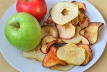 Frutas assadas como biscoito