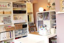 Scrapbook room and storage