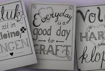 Hand letteren / Leren hand letteren
