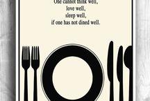kitchen, dinner slogans diy deco