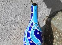 Painted wine bottles  / by Danette