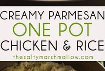 Creamy Parmesan Rice and Chicken