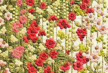 fiori con esagoni
