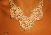Crochet necklace,crochet neck accessory