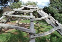 Rustic Wooden Climbing Frames