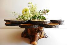 cake stands / Board for Inspiration and our own cake stands we have for rental