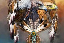 Art indien.EAGLES.