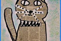 sanomalehti kissa