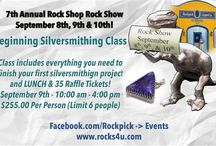7th Annual Rock Shop Rock Show / THIS IS A FREE EVENT!  Join Us on Facebook:  https://www.facebook.com/events/1474559539236601  Come learn, explore and try new things! The Rock Shop Rock Show is a local sensation! Lapidary, Geology, Children's Crafts, Classes, Workshops, Vendors & More!   Free and open to the entire family!  (Including 4 legged friends on a leash or being held.)   HOURS:  Thursday & Friday September 8th & 9th -  10:00 am to 8:00 pm  Saturday September 10th - 10:00 am to 6:00 pm