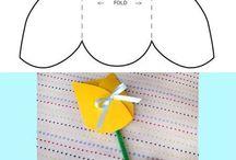 tulipán de papel