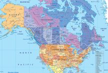 Places--North America / The U.S. and Canada, and their various states, provinces, and territories