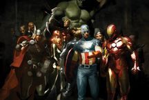 Avengers / A mishmash of Avengers, Iron Man, Thor, Captain America, Shield, Hulk and other marvel
