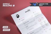Simple Resume / Cv Templates