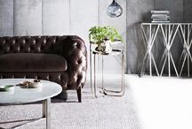 GlobeWest - Urban Luxe / Chester Sofa, Deco Nest of Tables & Console, Elle Marble Cross Coffee table, Genie Pendants Styling: Julia Green, Photography: Armelle Habib