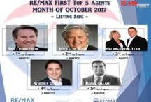 OCTOBER 2017 TOP AGENTS LISTINGS