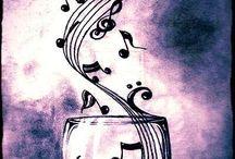Notas musicais / Arte com notas musicais