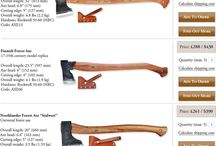 Axes, saws and other tools