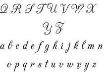 Alfabeto corsivo