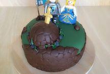 Tarta medieval de click playmobil / Podéis seguidme en Facebook en Mariablablabla