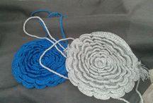 Bolsos crochet / Originales bolsos de ganchillo hechos con hilo, trapillo u otros materiales